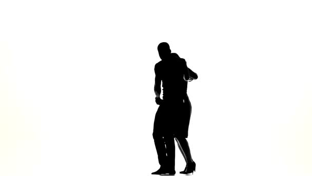 Silhouette of Young Happy Couple Stock Footage Video (100%