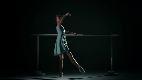 Young ballet dancer wearing an ablue tutu