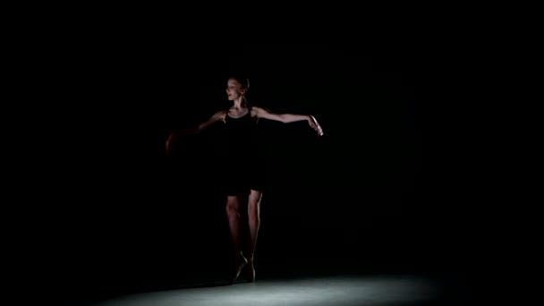 ballet dancer isolated on black background
