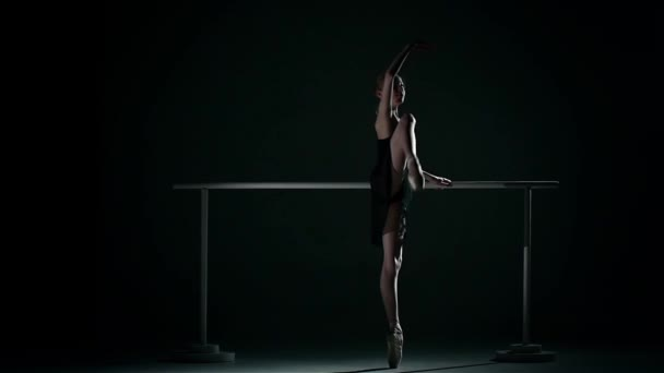 ballet dancer wearing an apricot tutu. slow motion