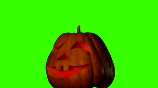 Helloween dýně na zelené obrazovce