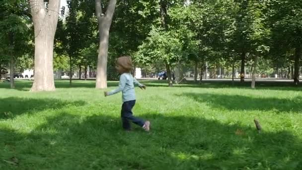 daughter happily running towards her mom. Slow motion