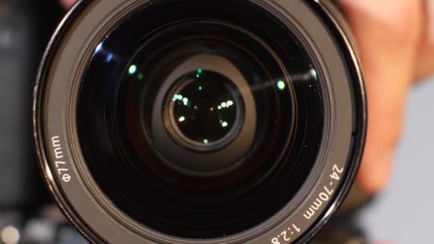 Lente della fotocamera, zoom, primo piano