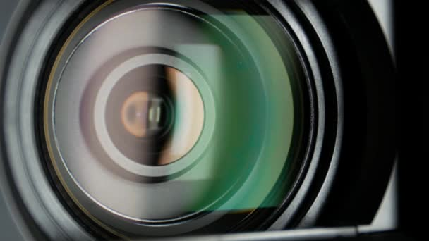 Video camera lens, showing zoom, close up