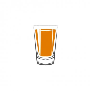 shot glass on white