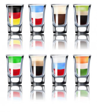 Shot glasses set.