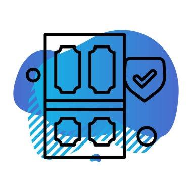 Vector smartphone icon illustration icon