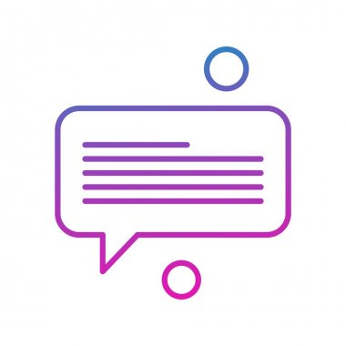 Speech bubble vector illustration icon