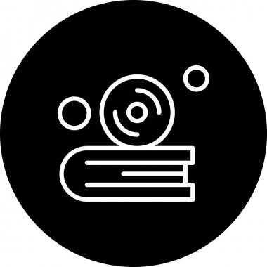 Vector cd Icon , simple web illustration icon