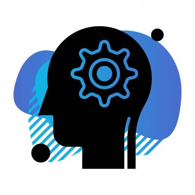Simple setting Icon, vector illustration icon