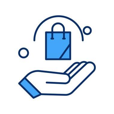 Vector Bag Icon , simple web illustration icon