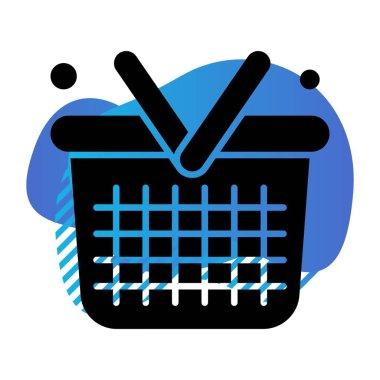 Vector Basket Icon, simple web illustration icon