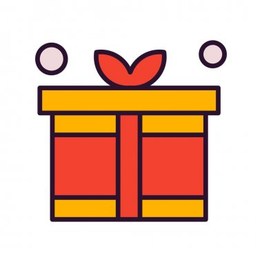 Vector gift Icon, vector illustration icon
