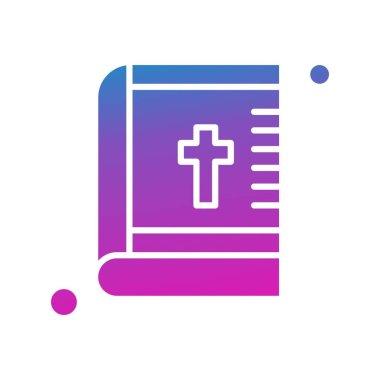 Vector Bible Icon, simple web illustration icon