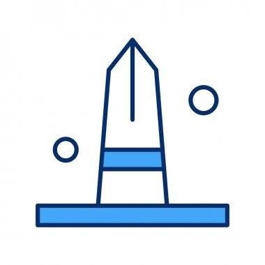 Vector monument Icon, simple web illustration icon