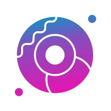 Vector doughnut Icon , simple web illustration icon