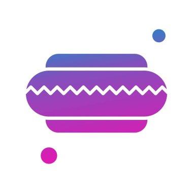 Vector hotdog Icon , simple web illustration icon