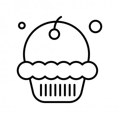 Vector muffin Icon , simple web illustration icon