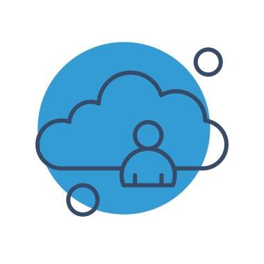 Vector man Icon , simple web illustration icon