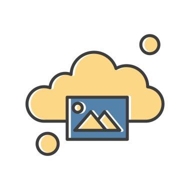 Vector gallery Icon, simple web illustration icon