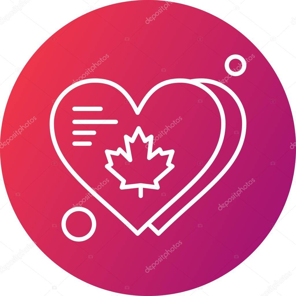 Vector heart web icon icon