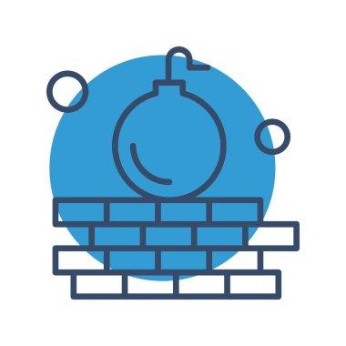 Vector hacker Icon, vector illustration icon