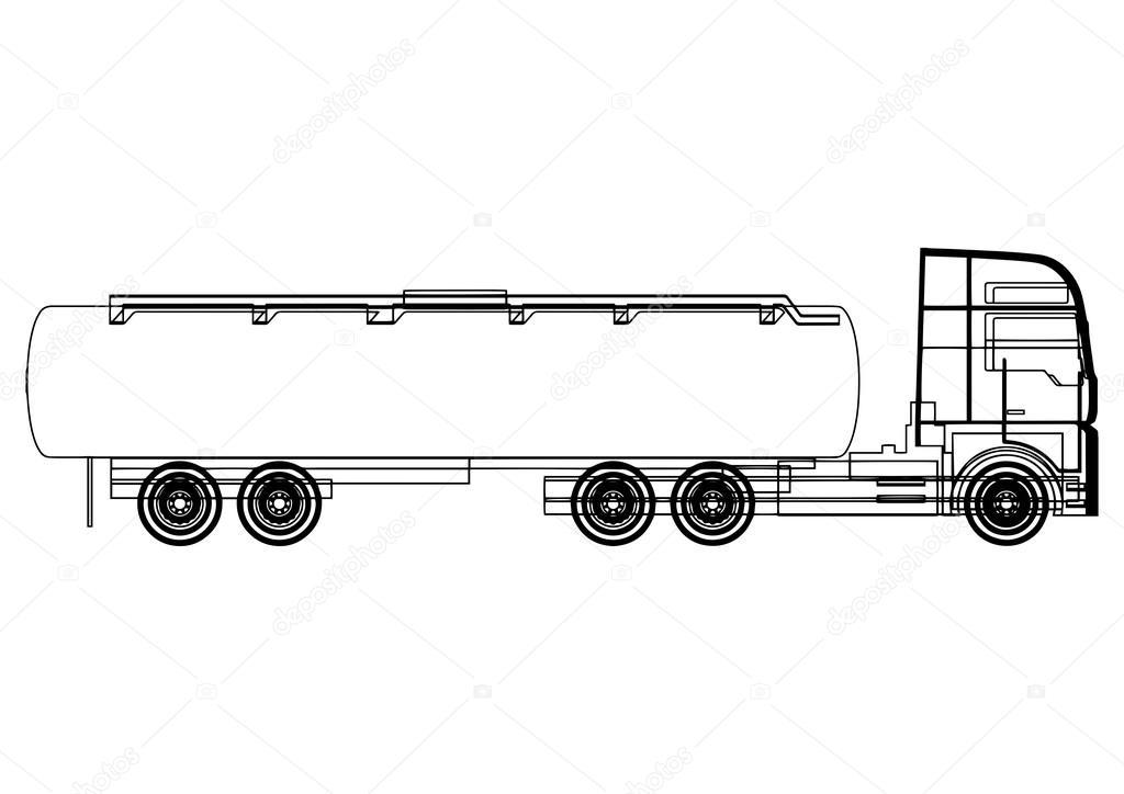 Tank-LKW-Skizze — Stockvektor © Argentique #69291267