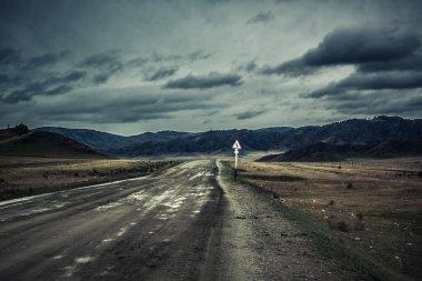 Russian roads in Altai