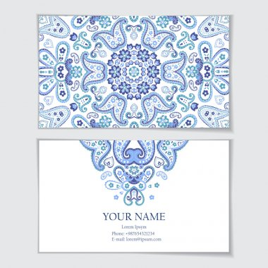Business card template. Visit card, invitation, greeting card. clip art vector
