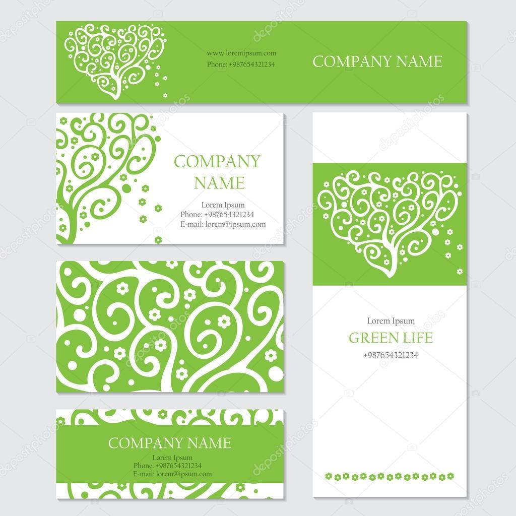 Conjunto de plantillas de tarjetas de negocios o invitación ...