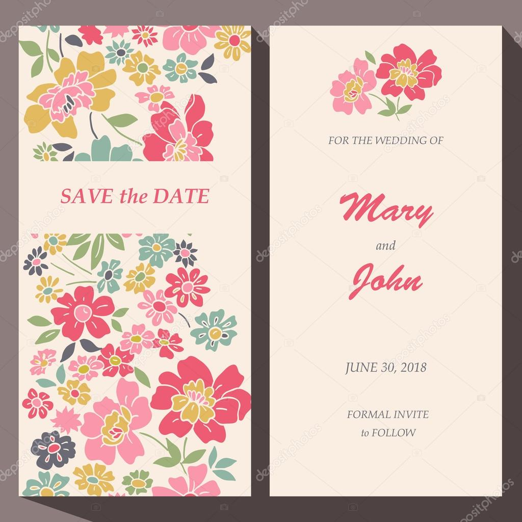 Vector card template for Save The Date baby shower mothers day – Save the Date Card Template