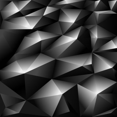 Black polygonal abstract background