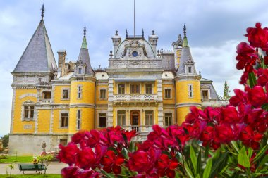 Ukraine, Crimea, Massandra Palace - the residence of the Russian Emperor Alexander III. The palace was built in the style of a castle in Crimea, near Yalta.