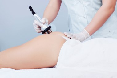 woman getting rf lifting procedure