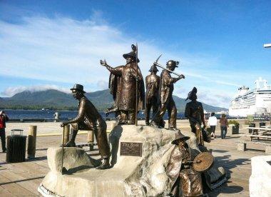 Ketchikan, AK / USA - Sept. 15, 2012: Dave Rubin's bronze monument