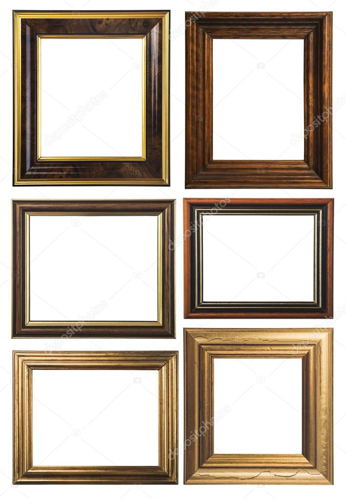Antique wooden frames — Stock Photo © ulkan #67226167