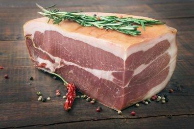 Smoked ham closeup