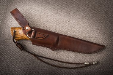 Hunting knife with scabbard