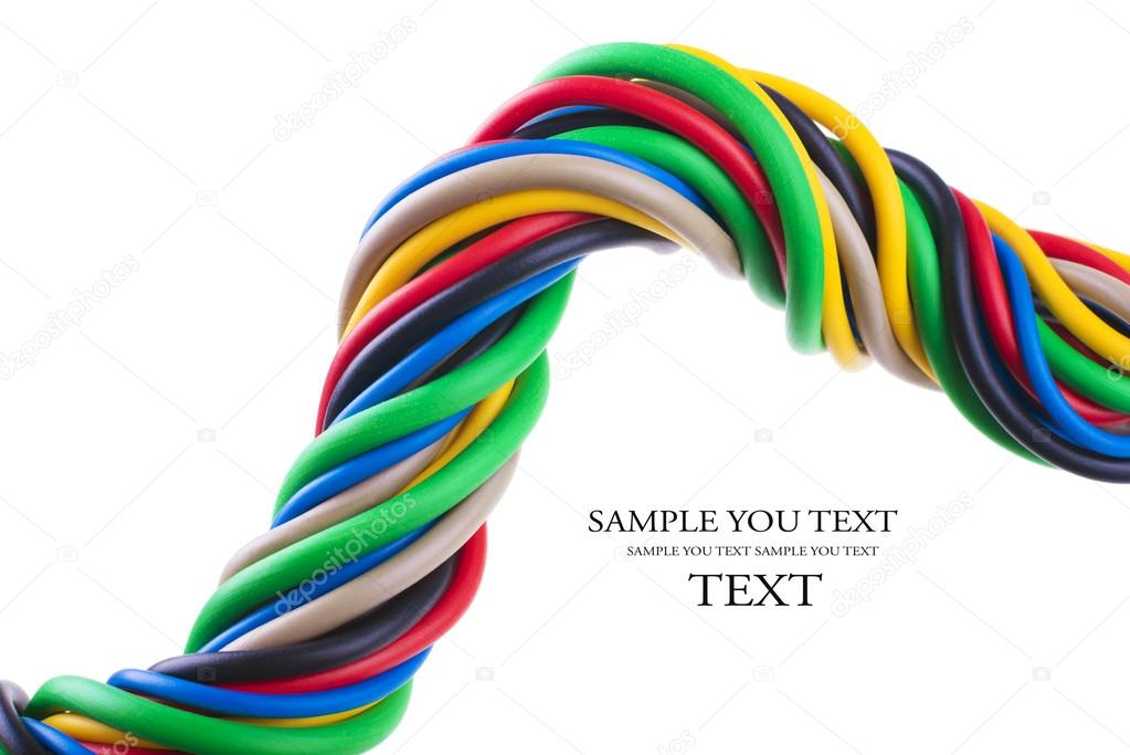 colorful electric cables — Stock Photo © ulkan #94675140