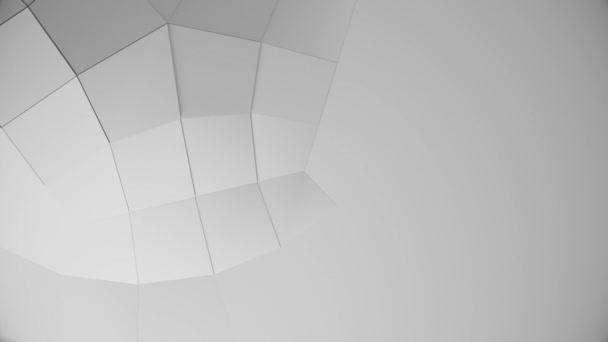 Abstraktní bílá geometrický povrch quad smyčka čistý minimální vzor, 3d pozadí pro obchodní prezentaci. 3D vykreslení ilustrace
