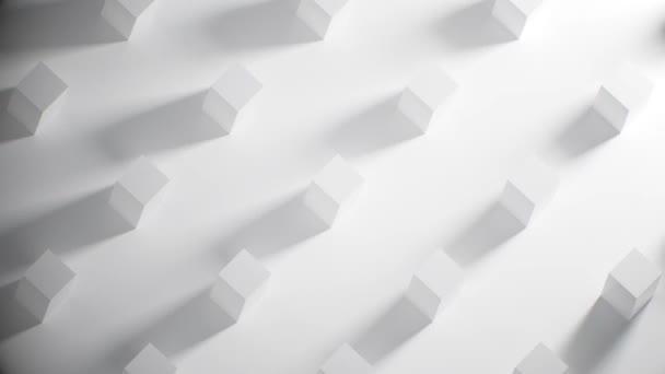 Abstraktní pozadí pro obchodní prezentaci, Detailní záběr kostek s animací stínů