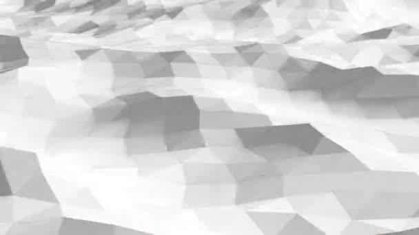 Abstraktní pozadí luxusní vlny. Mockup bílé pozadí, papírový materiál bílá elegantní tapety design. Bezproblémová animace smyčky