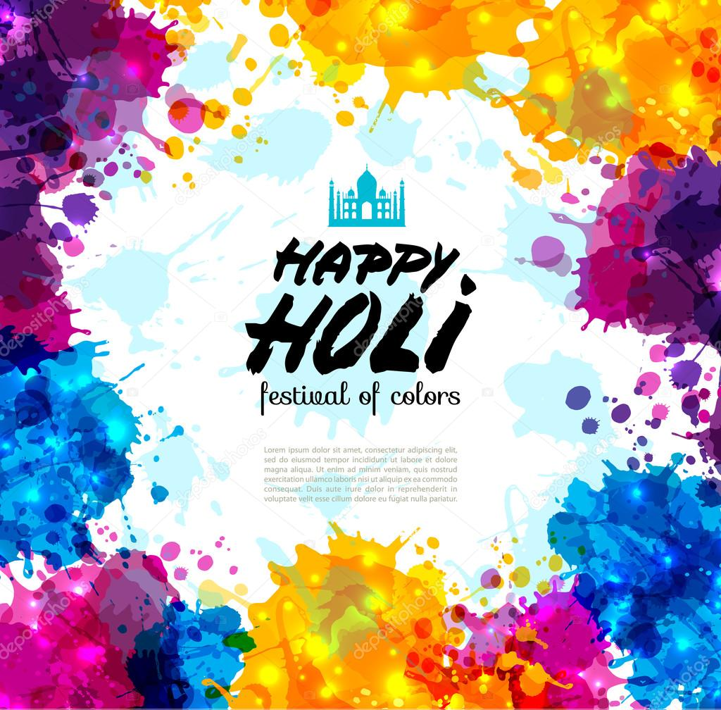 Holi spring festival of colors stock vector olgamilagros 103940446 holi spring festival of colors vector design element and sample text can use for banner invitation and greeting card vector illustration vector by stopboris Image collections