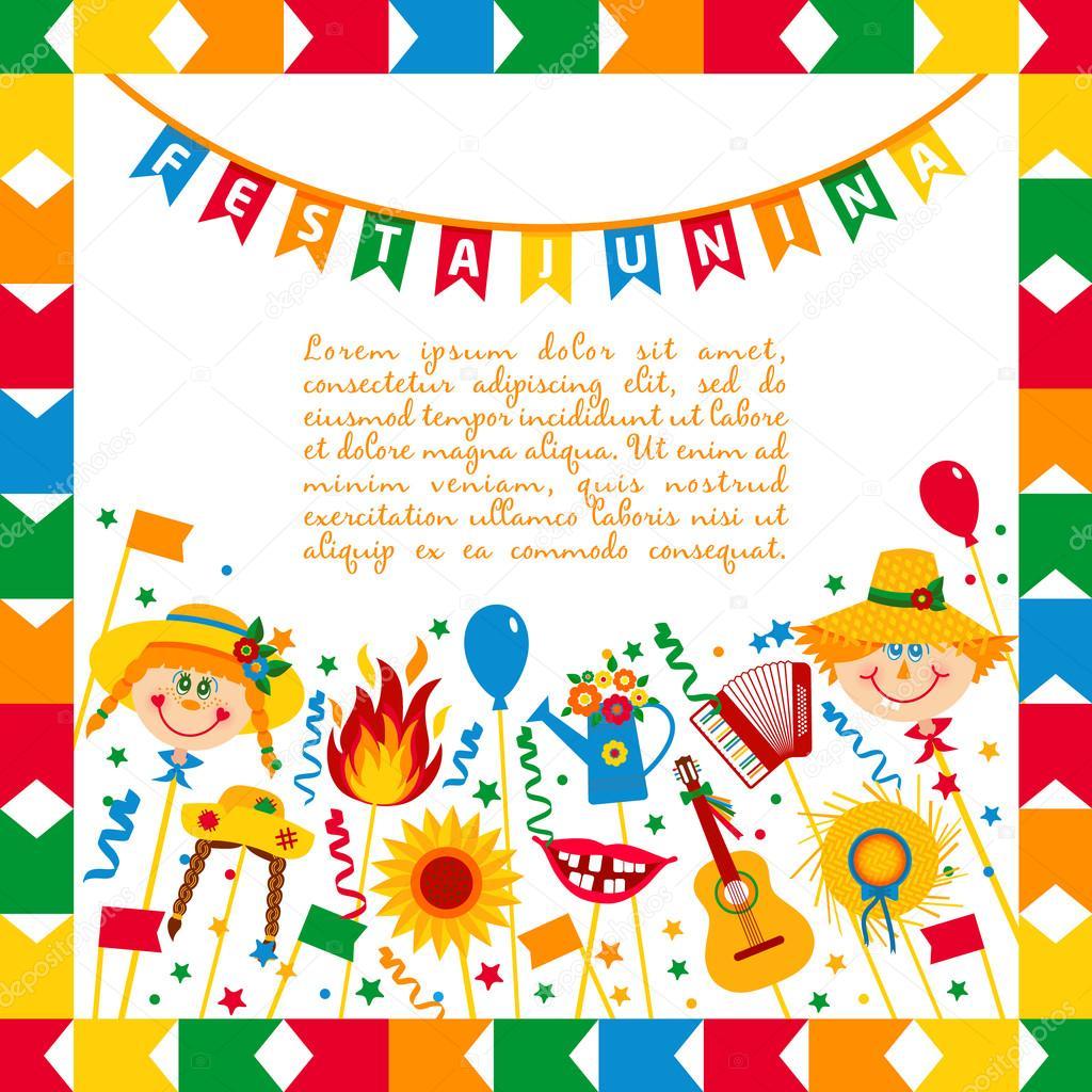 Festa Junina Dorffest In Brasilien Banner Layout
