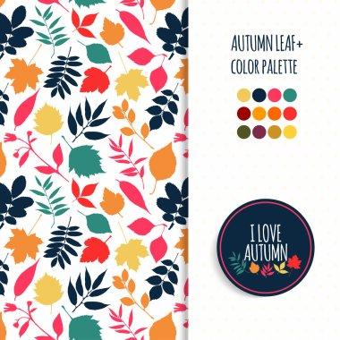 Autumn pattern and  pallet