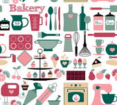 Fotografie Bakery and sweets pattern