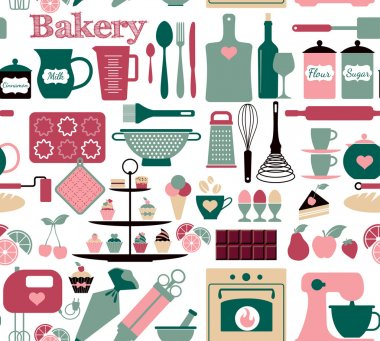 Bakery and sweets pattern