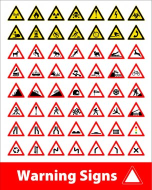 Warning signs symbol.