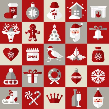 Christmas design icons set