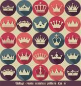 Fotografie Crown seamless pattern